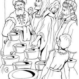 268x268 Jesus Turns Water Into Wine Coloring Pages Az Coloring Pages