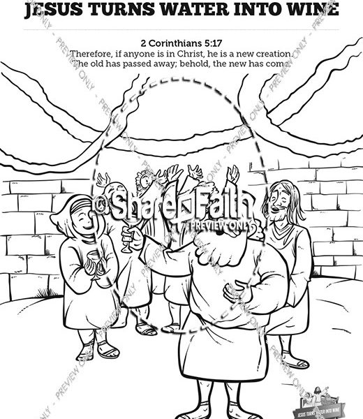 520x600 Pictures Into Coloring Pages Jesus Turns Water Into Wine Sunday