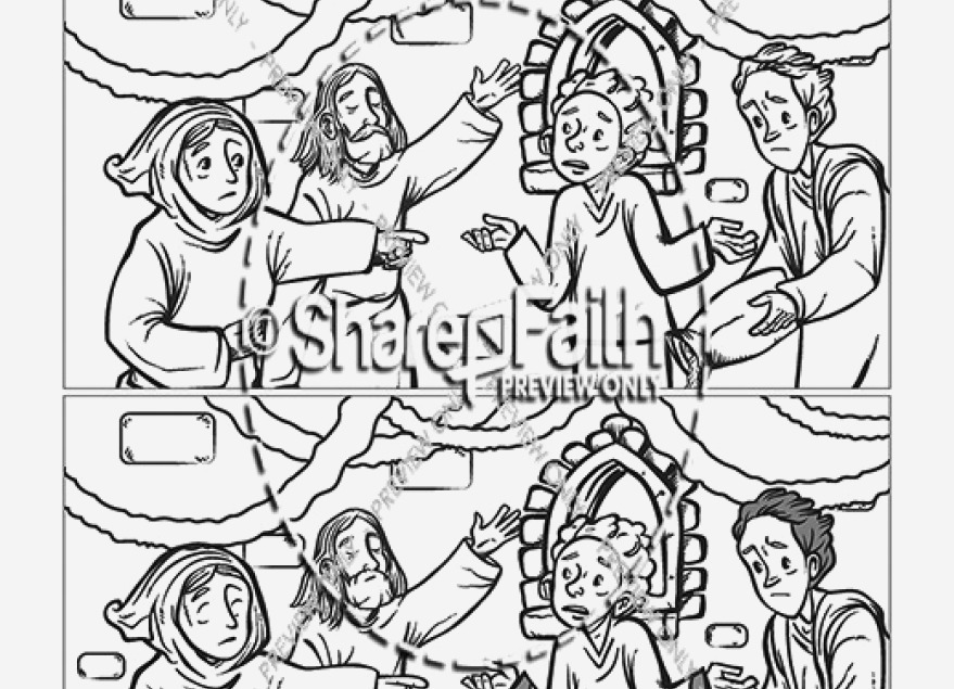 879x635 Fine Jesus Turns Water Into Wine Coloring Page Ornament