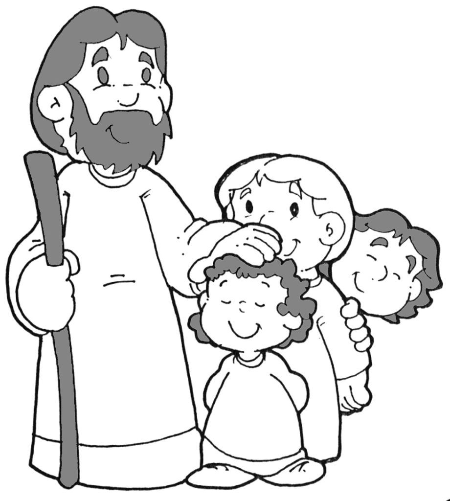 920x1024 Fascinating Jesus Loves The Little Children Coloring Page Glum Me