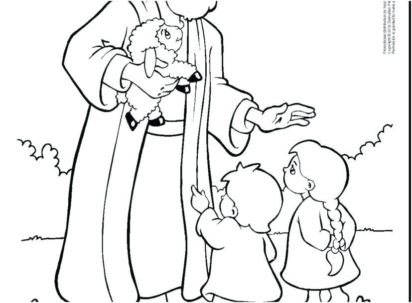 827x609 Jesus Blesses The Children Coloring Page Loves The Little Children