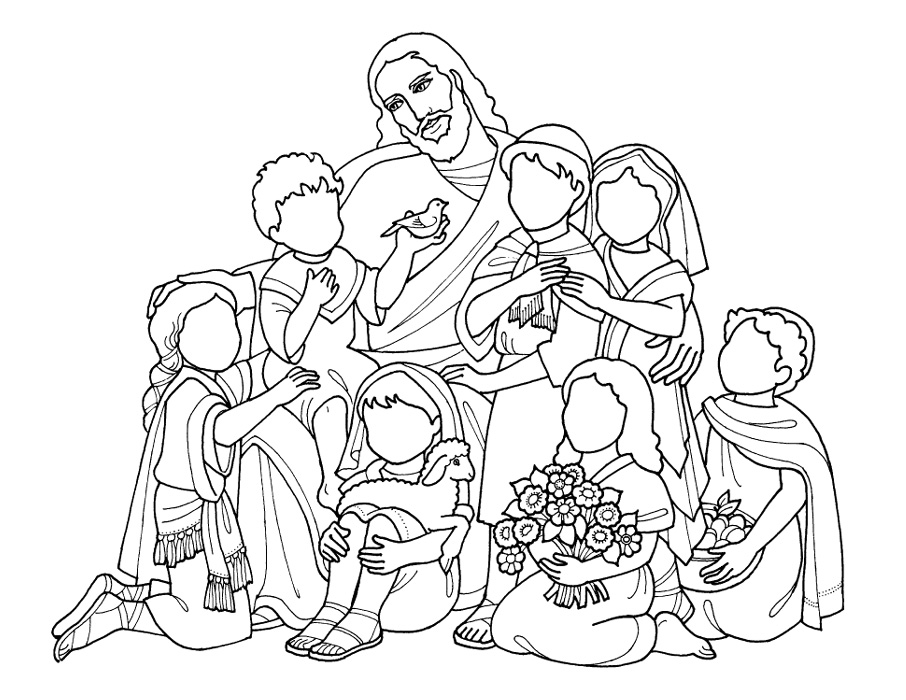 906x700 Jesus Loves Children Coloring Page Az Coloring Pages Coloring