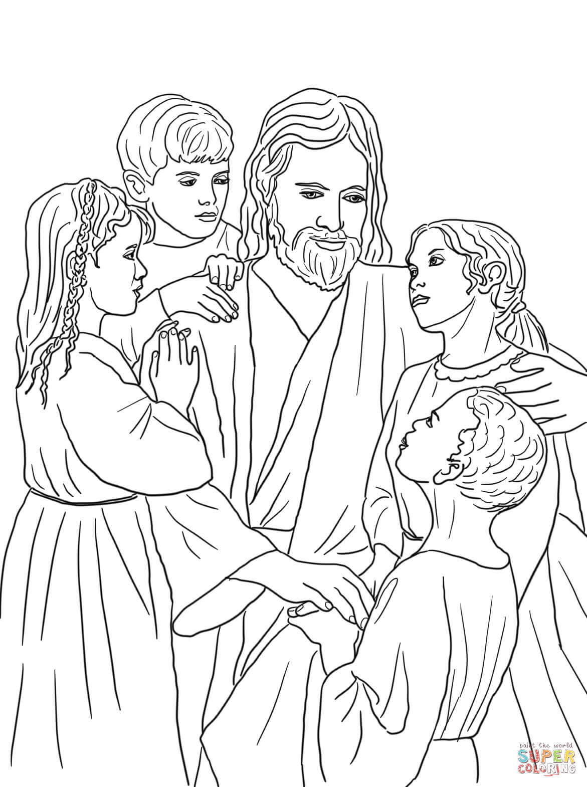1171x1570 Jesus With Children Coloring Pages Jesus Loves All The Children