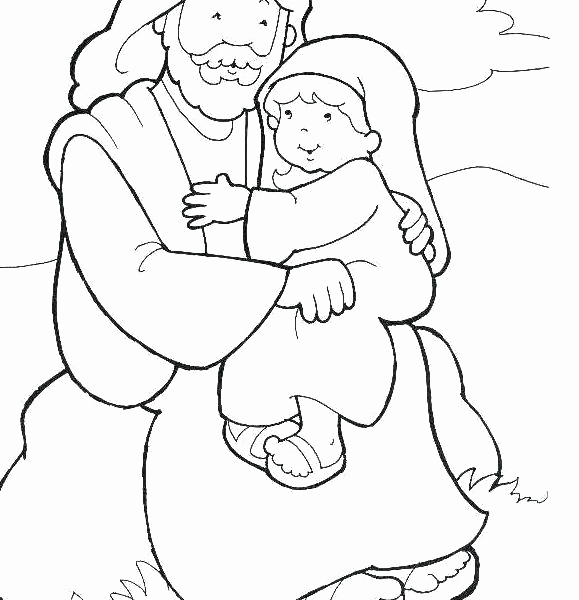 579x600 Jesus With Child Coloring Page Images Jesus With Children Coloring