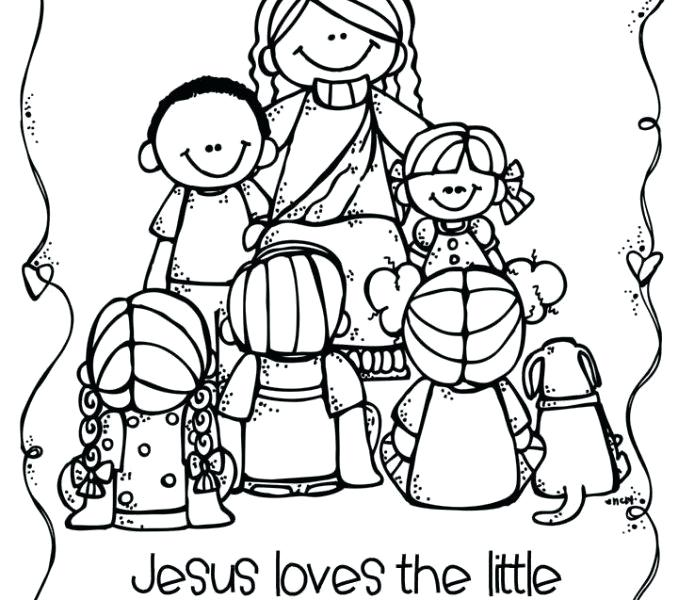 678x600 Jesus And The Children Coloring Pages