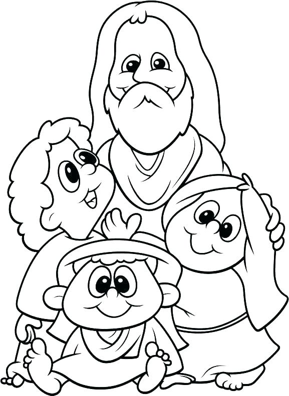 577x792 Childrens Coloring Pages Of Jesus With Children Page And Epic
