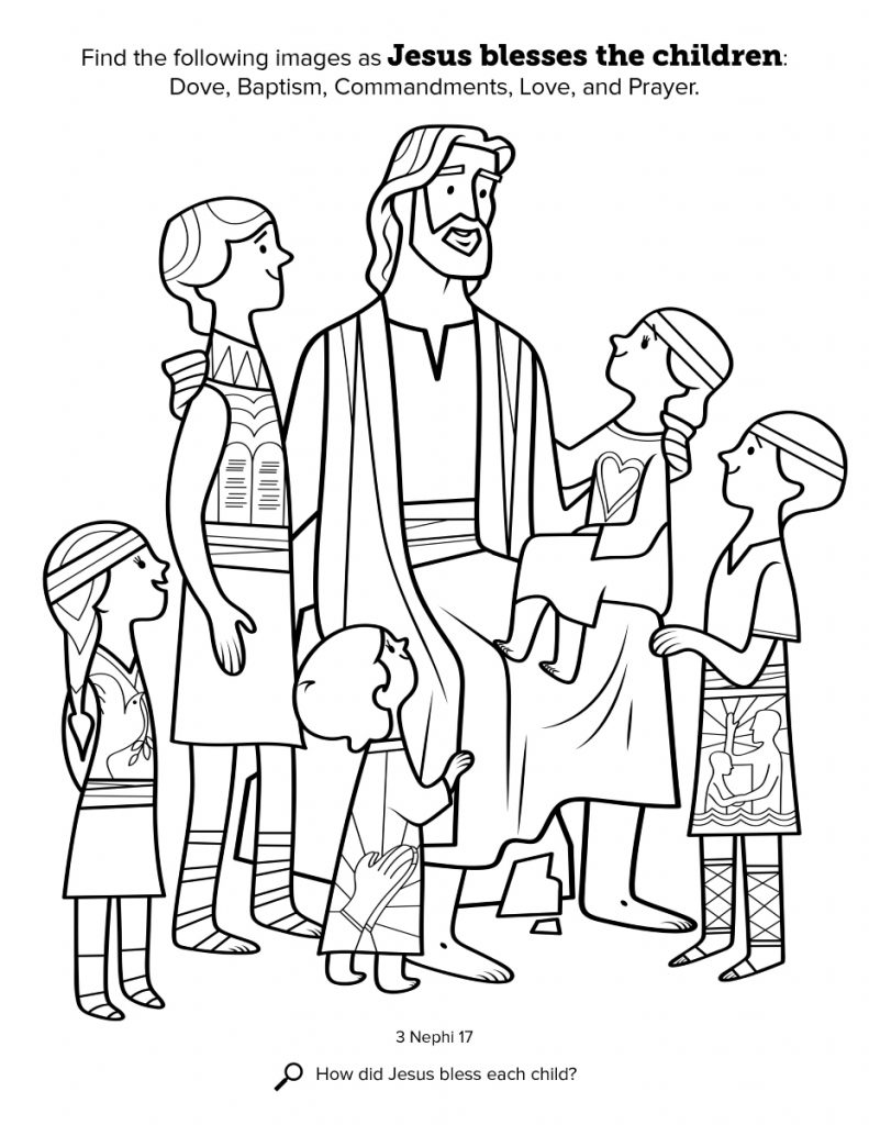 791x1024 Coloring Pages And Coloring Books Jesus And Children Coloring