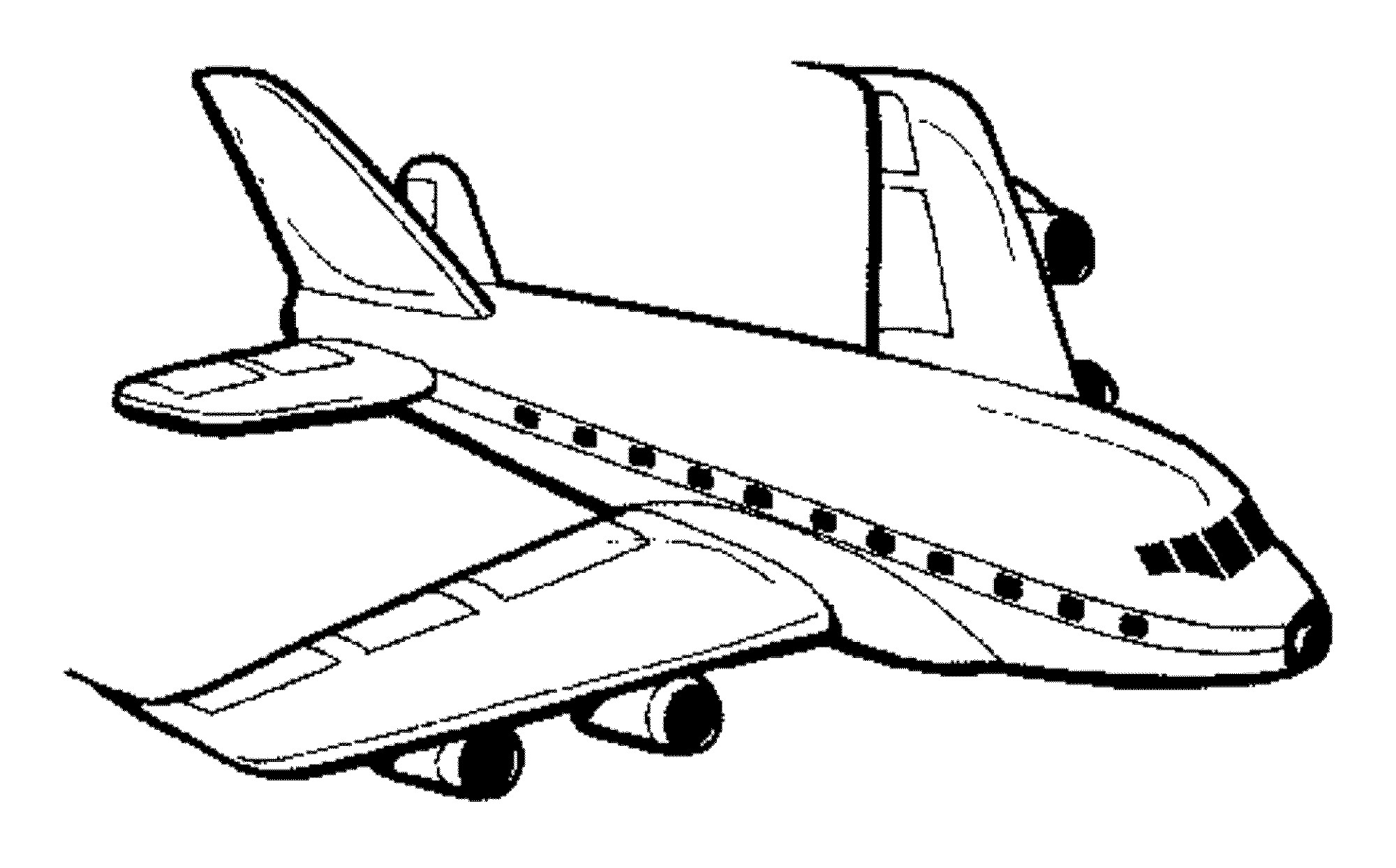 2000x1244 Jet Airplane Coloring Page Pages