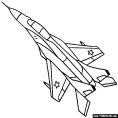 236x236 Military Jet Fighter Airplane Coloring Page Jeter