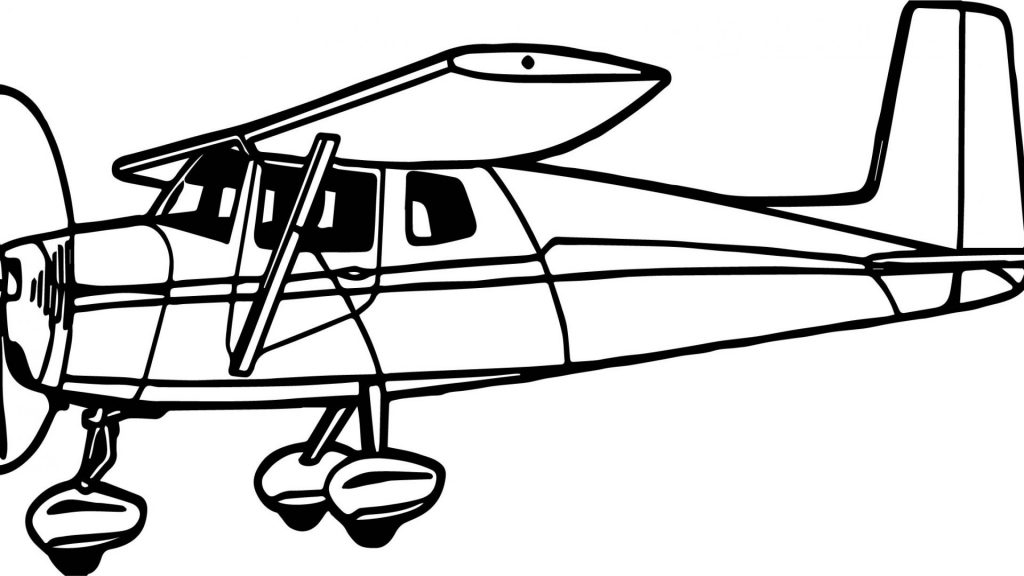 1024x576 Terrific Airplane Coloring Pages Printable With General Airplanes