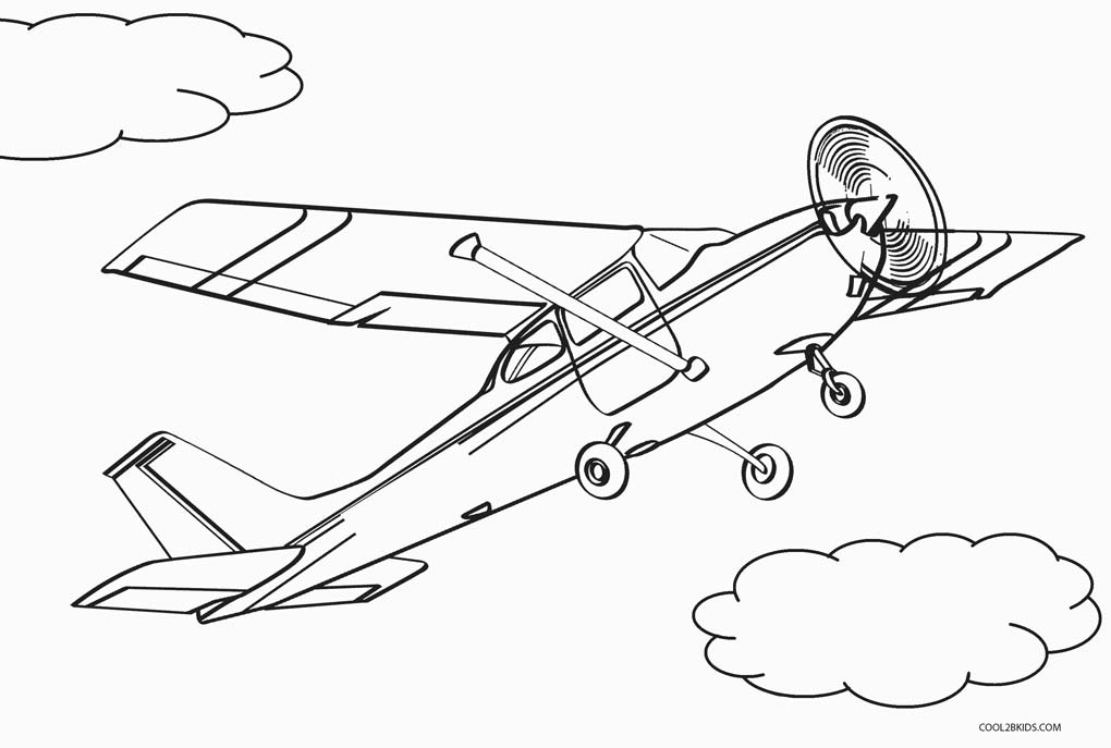 1020x687 Free Printable Airplane Coloring Pages For Kids