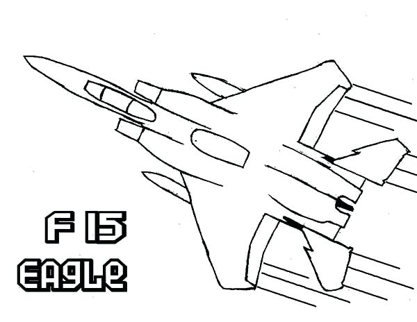 600x464 Fighter Jet Coloring Page
