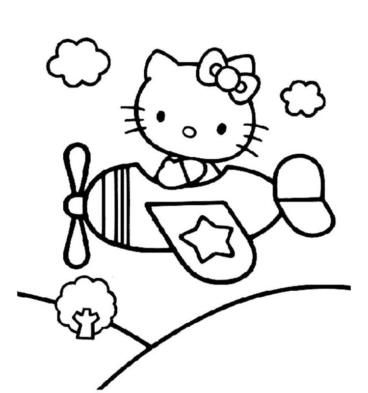 750x800 Awesome Airplane Coloring Pages Free Printable For Kids