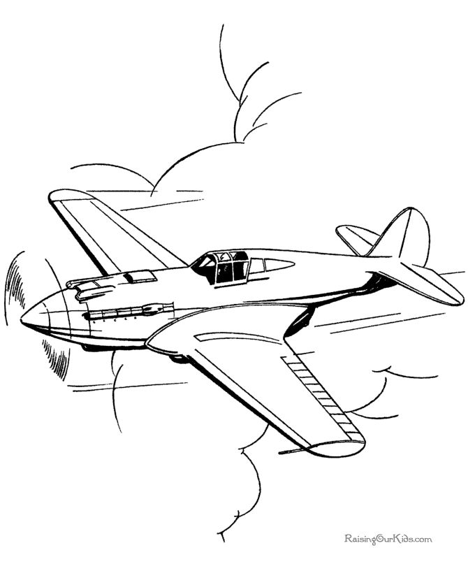 670x820 Drawn Jet Coloring Page