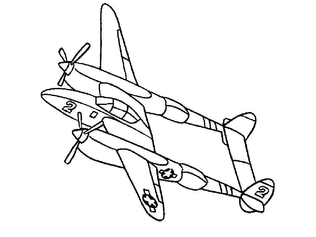 1024x768 Jet Coloring Pages