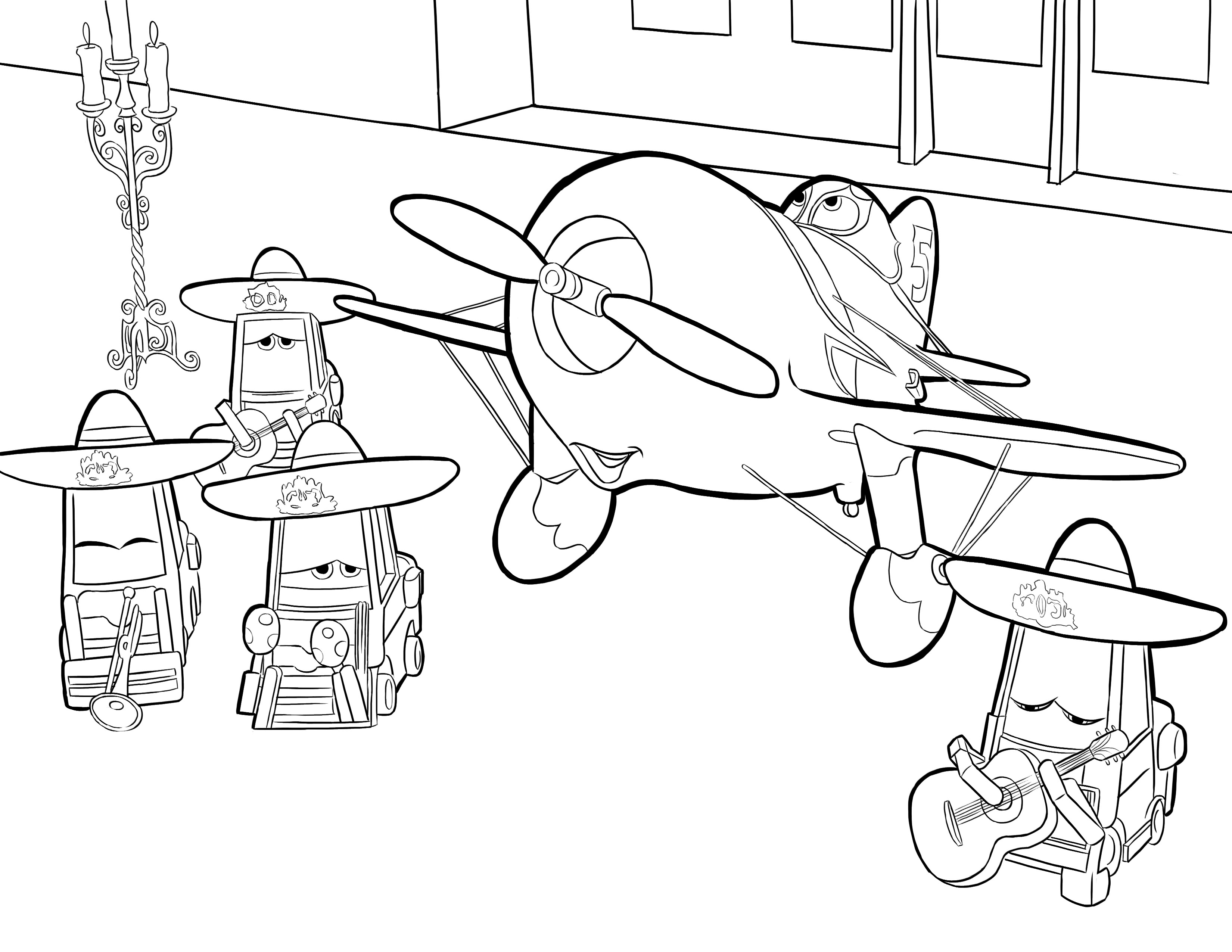 3300x2550 Letter A Is For Airplane Coloring Page Free Printable Pages Kids
