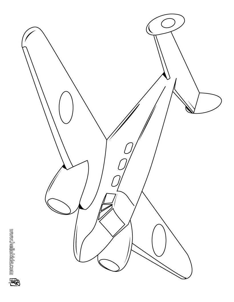 820x1060 Simple Jet Plane Coloring Page For Kids Transportation Pages