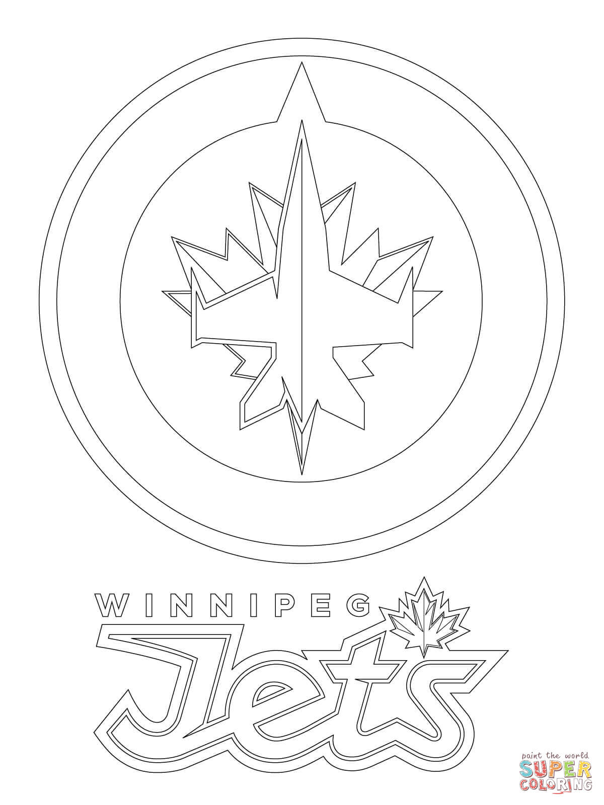 1200x1600 Value Jets Logo Coloring Page Winnipeg Free Printable Pages