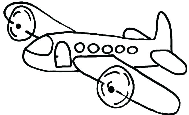 663x404 Jet Coloring Page