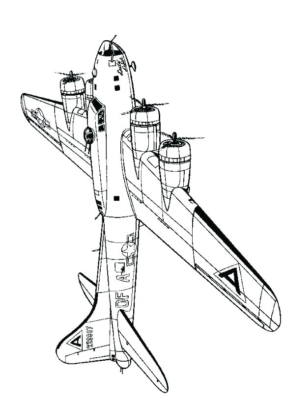 578x815 Fighter Jet Coloring Page