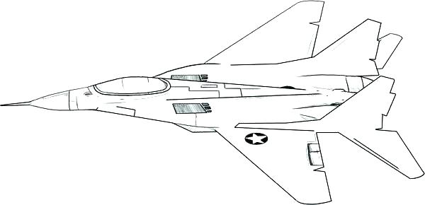 600x290 Jet Coloring Pages Jet Coloring Pages Collection Beautiful Fighter