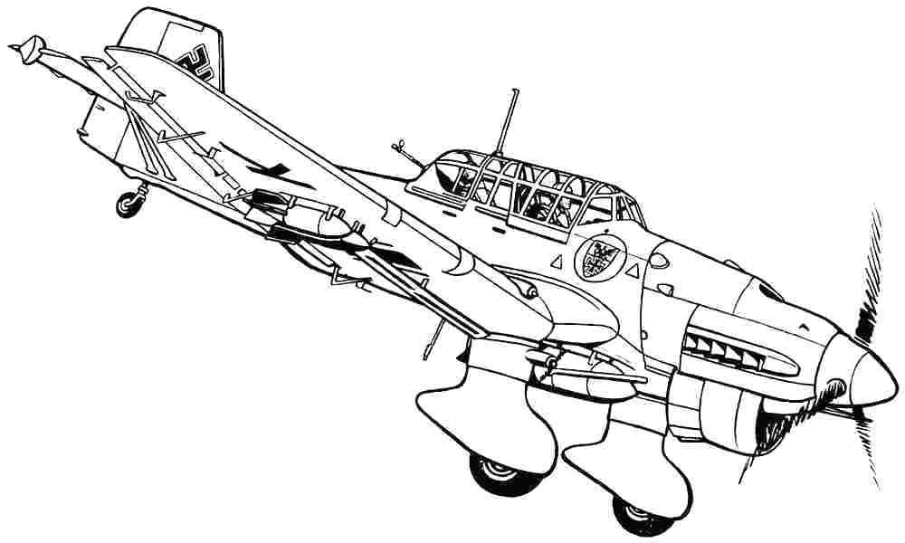 1000x600 Jet Coloring Pages Jet Coloring Pages Printable Airplane Line Art
