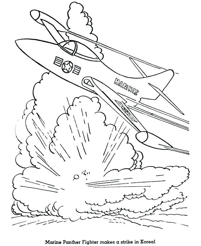 670x820 Printable Fighter Jet Coloring Pages Page Book