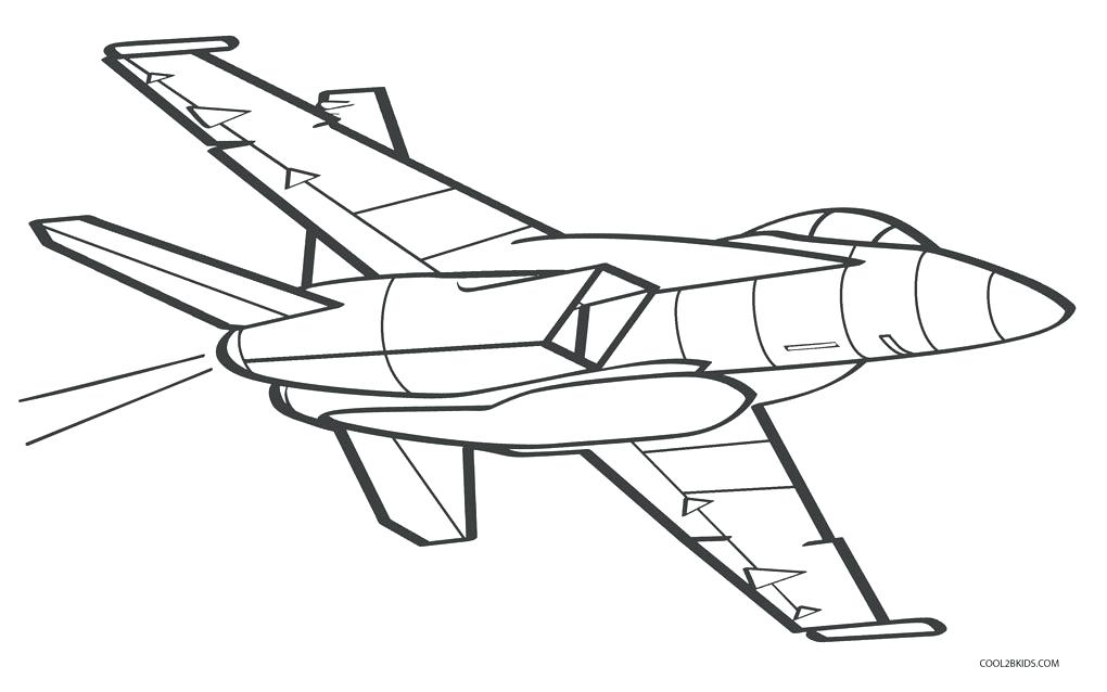 Jet Plane Coloring Pages