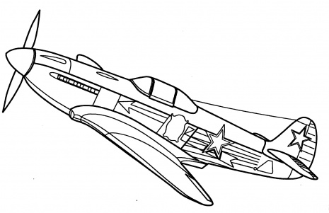 465x301 Fighter Plane Coloring Pages Jet Page