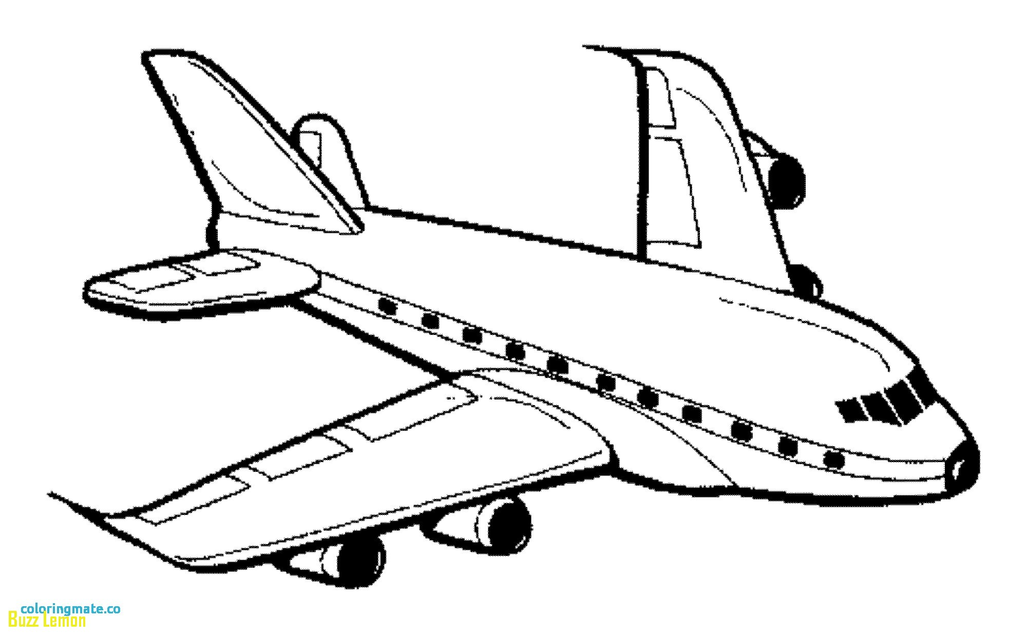 2000x1244 Jet Airplane Coloring Page Free Printable Pages