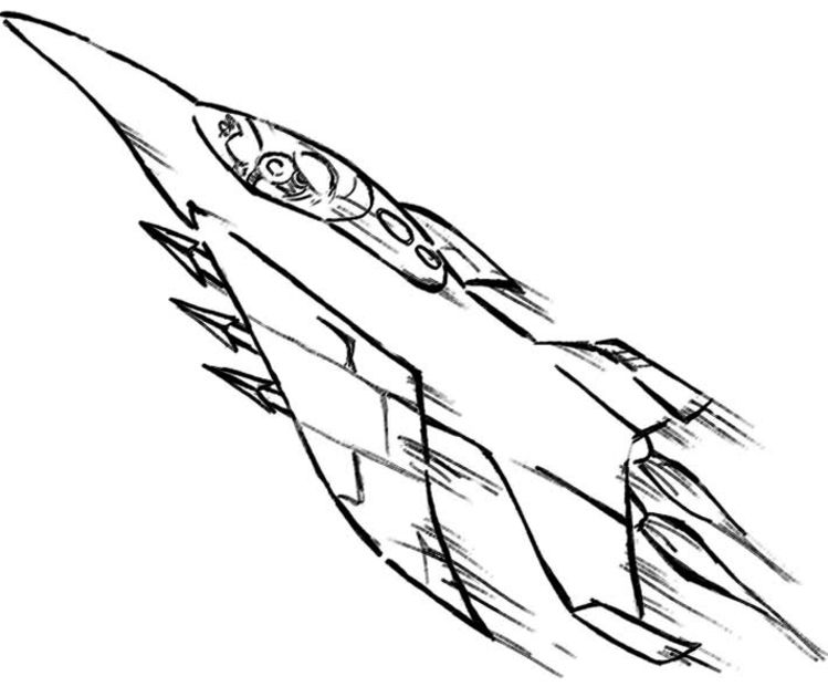 749x630 Airplane Coloring Pages
