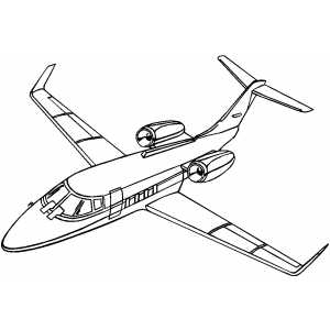 300x300 Lear Jet Coloring Pages Jets, Planes And Airplanes