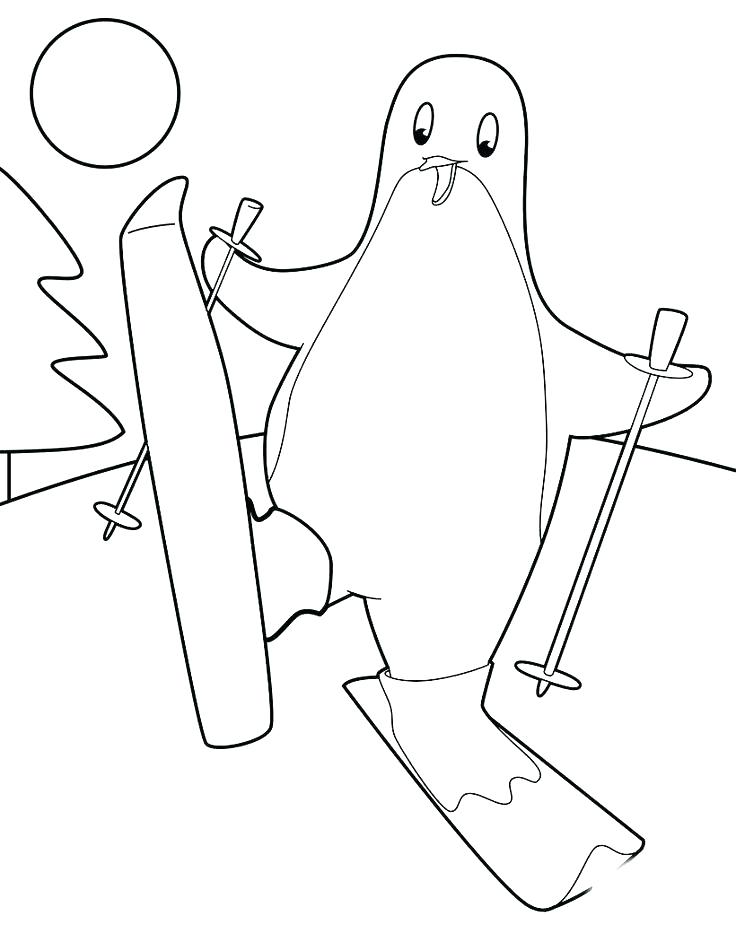 736x951 Skiing Coloring Pages Best Skiing Images On Skiing Kids Net