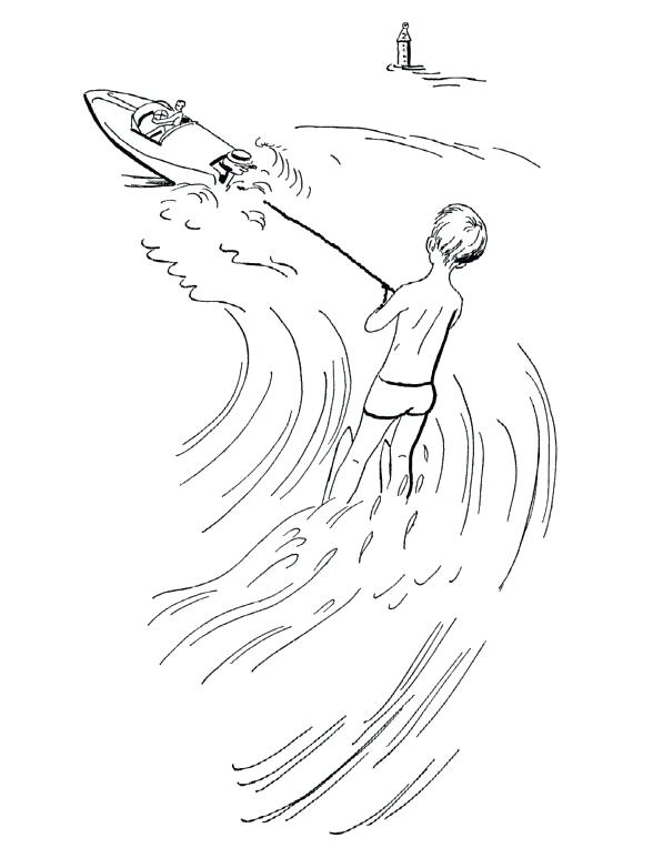 597x764 Skiing Coloring Pages Jet Ski Coloring Pages To Print