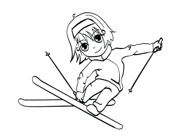 600x464 Skiing Coloring Pages Jet Ski Coloring Pages