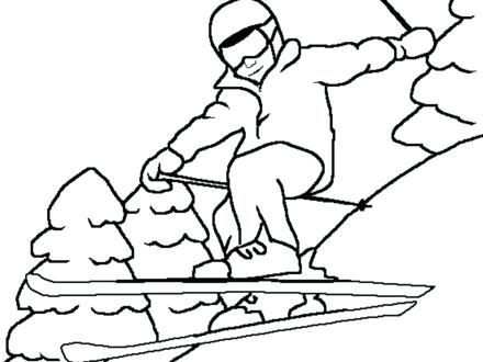 440x330 Skiing Coloring Pages Little Girl Skiing Coloring Page Jet Ski