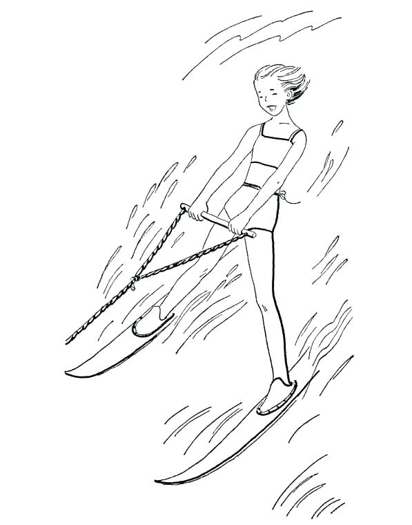 597x760 Ski Coloring Pages