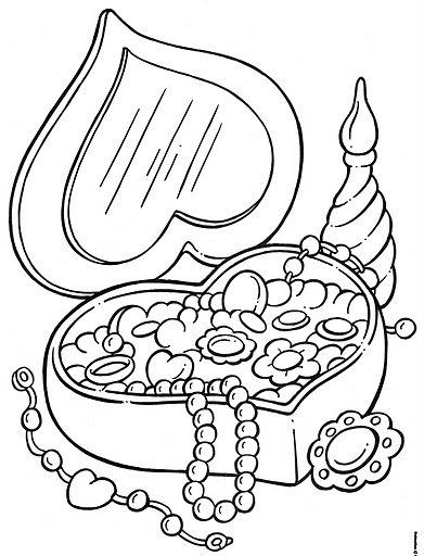 391x512 Jewelry Coloring Pages