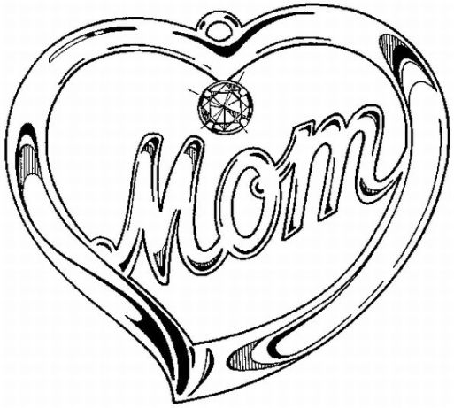 513x461 Mother's Day Necklace Coloring Book