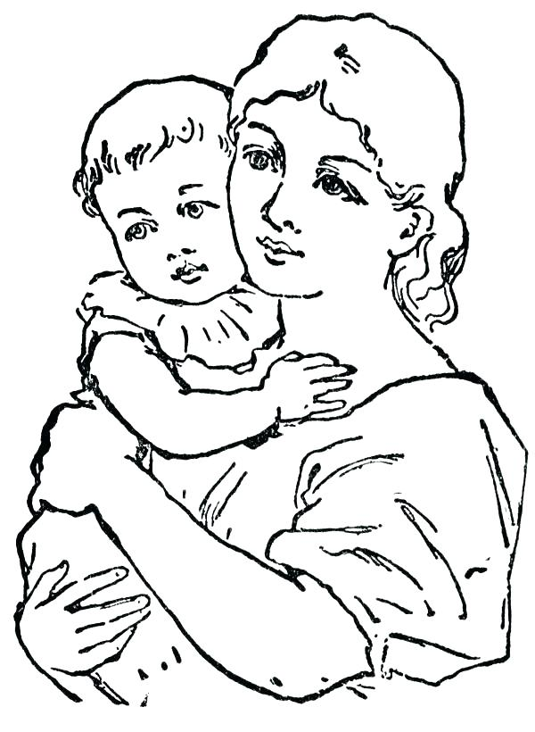600x820 Mother And Daughter Coloring Pages Jewelry Coloring Pages Mother