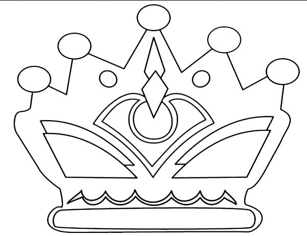 600x462 Princess Crown With Jewelry Coloring Page