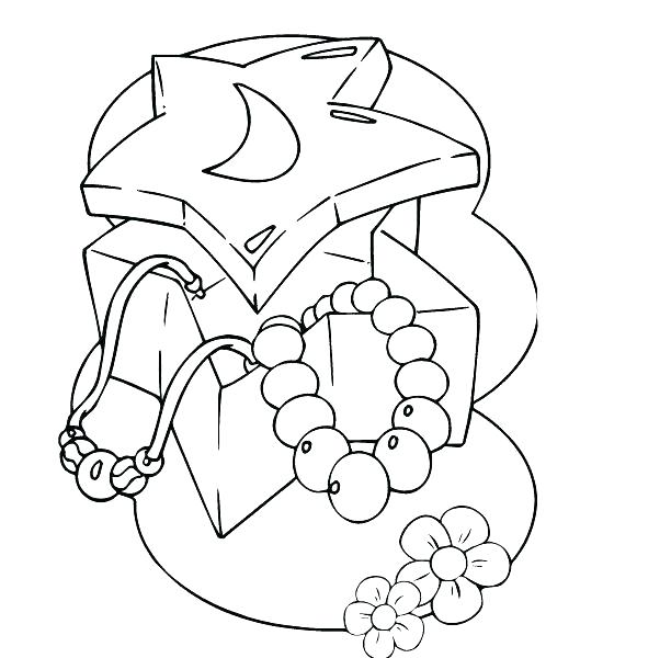 612x600 Jewelry Coloring Page