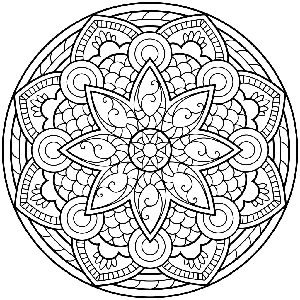 1024x1024 Huge Gift Jewish Mandala Coloring Pages For Ad