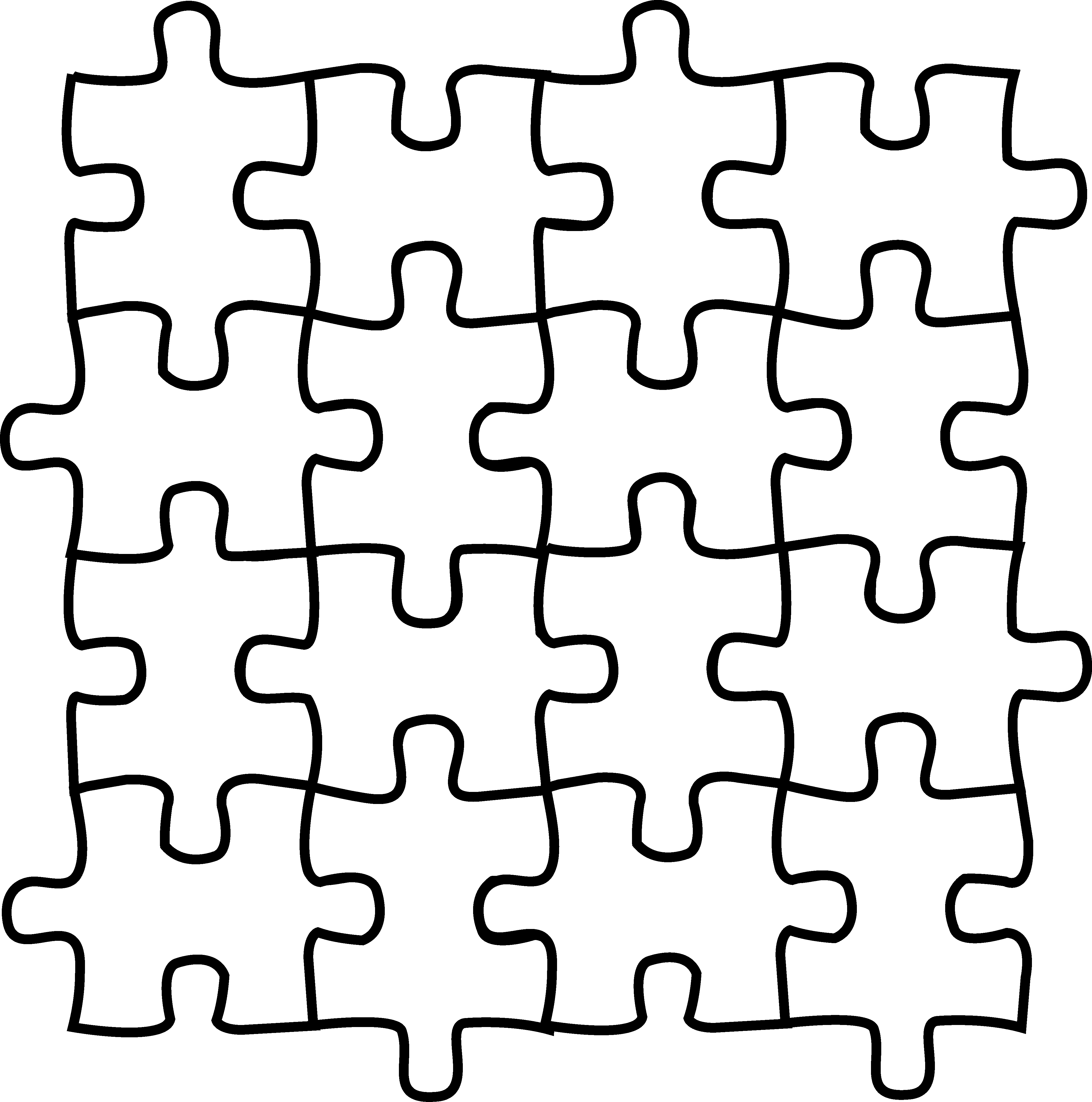 Jigsaw Coloring Pages