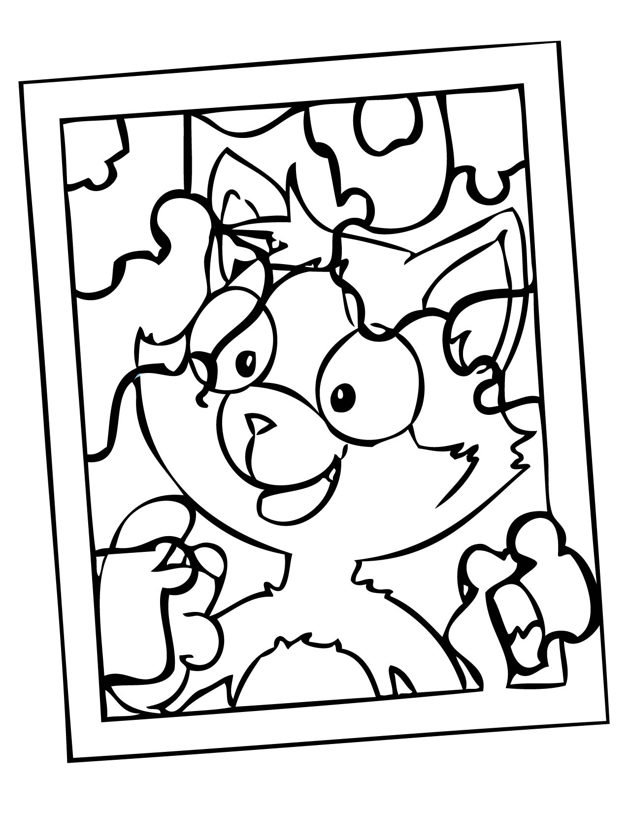 1275x1650 Jigsaw Puzzle Coloring Page