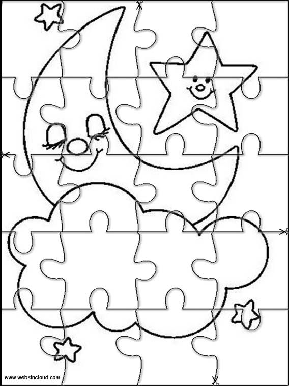 568x758 Printable Jigsaw Puzzles To Cut Out For Kids Space Coloring