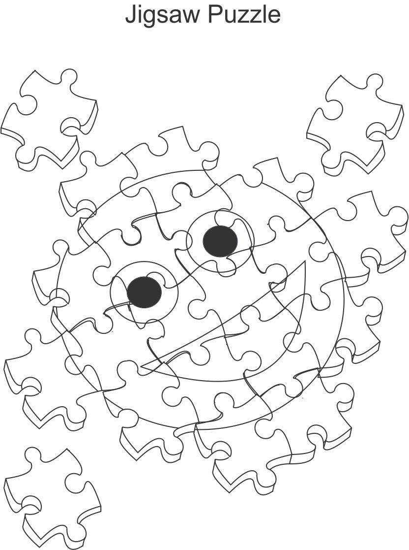 Jigsaw Puzzle Coloring Pages at GetDrawings.com | Free for personal ...