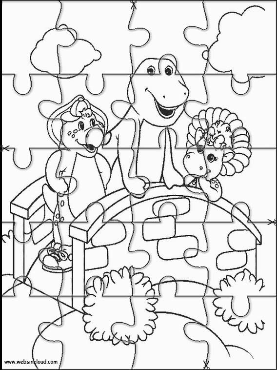 568x758 Printable Jigsaw Puzzles To Cut Out For Kids Barney And Friends