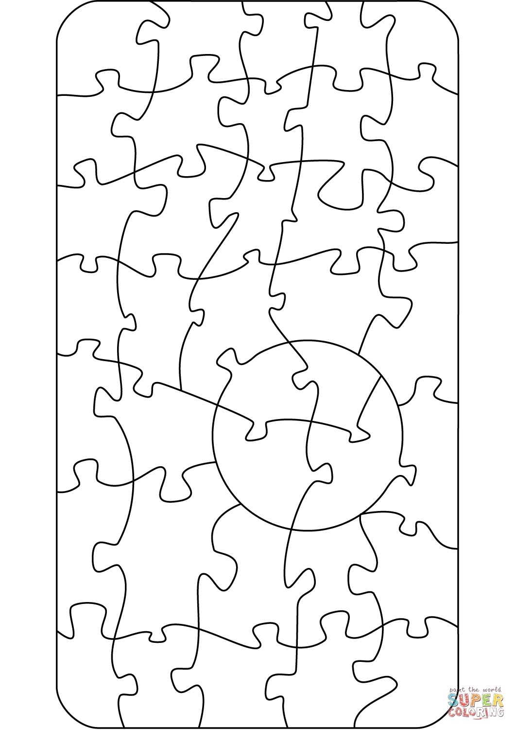 1060x1500 Best Of Jigsaw Puzzle Coloring Page Collection Printable