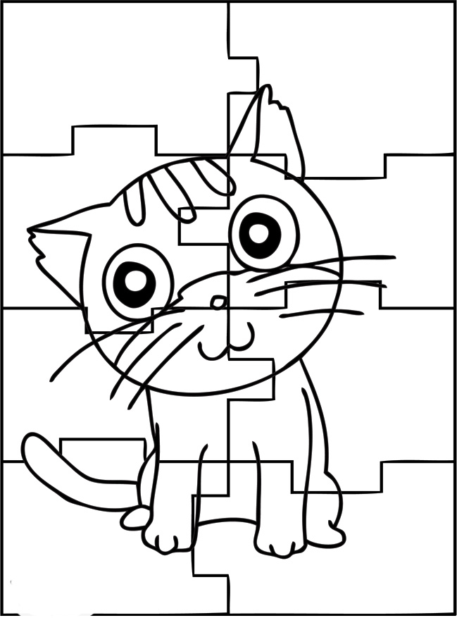 Jigsaw Puzzle Coloring Pages at GetDrawings com | Free for
